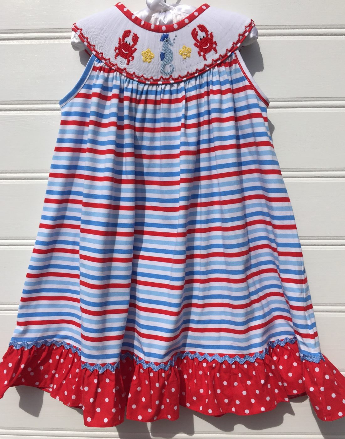 Banana Split Sea Life Smocked Dress
