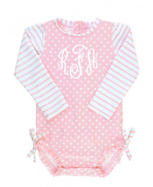 Ruffle Butts Pink Polka Dot One Piece