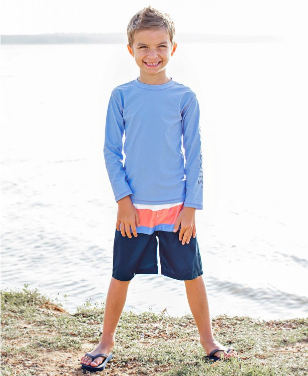 Rugged Butts Coral & Blue Color Block Swim Trunks