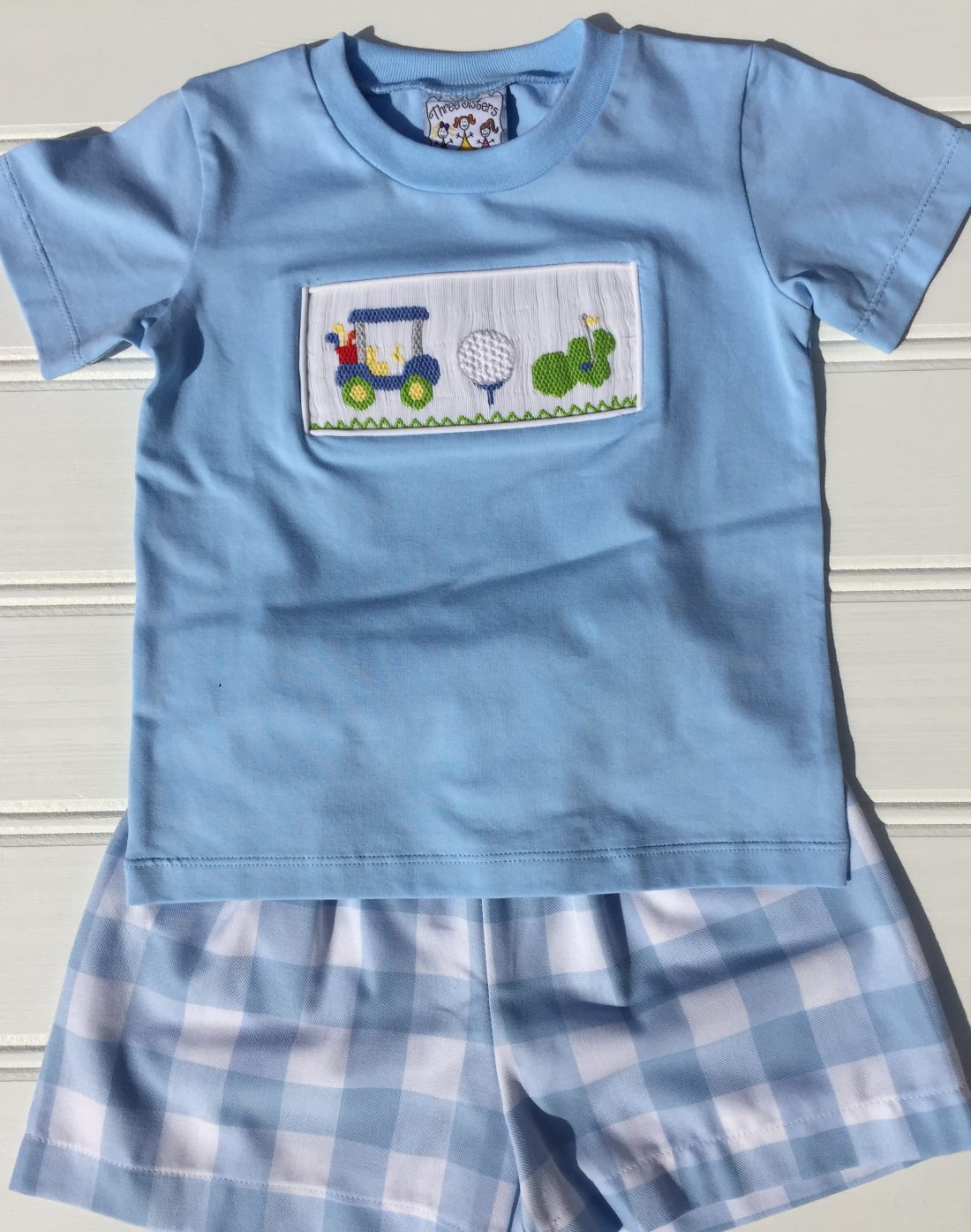 Three Sisters Hole In One Smocked Boys T-shirt & Shorts