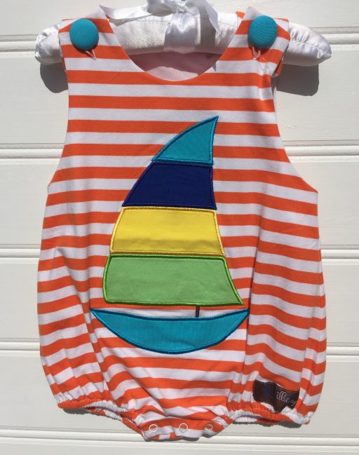 Just a Sailing Appliqué Sunsuit