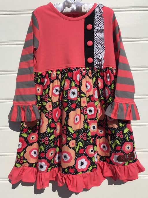 Millie jay Coral Delight Longsleeve Dress