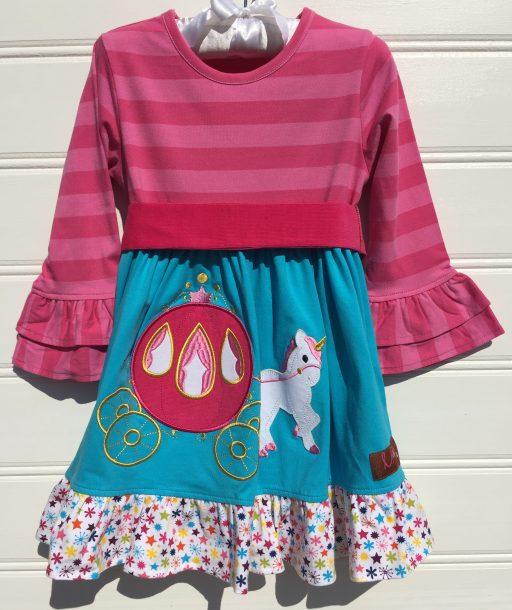 Carriage Applique Best Sleeve Dress Millie jay