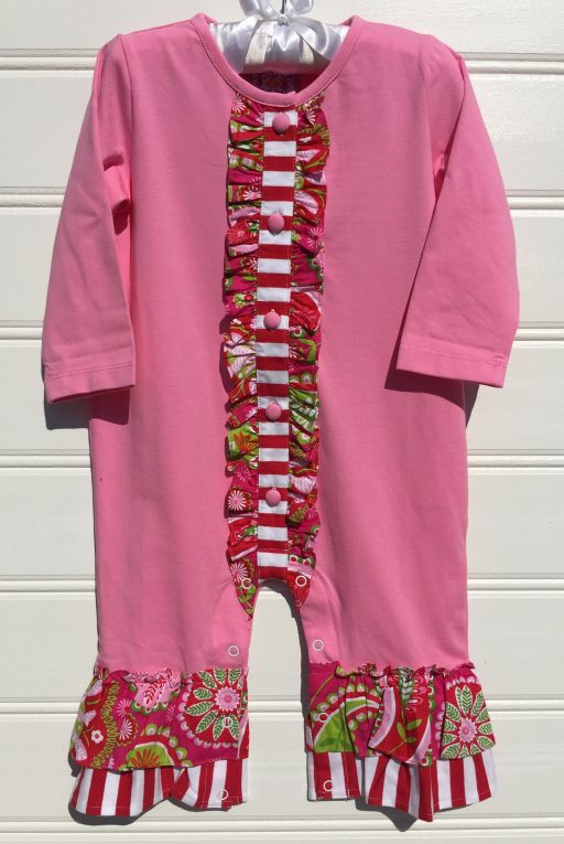 Three Sisters Pink Paisley Knit Romper. The White Dogwood