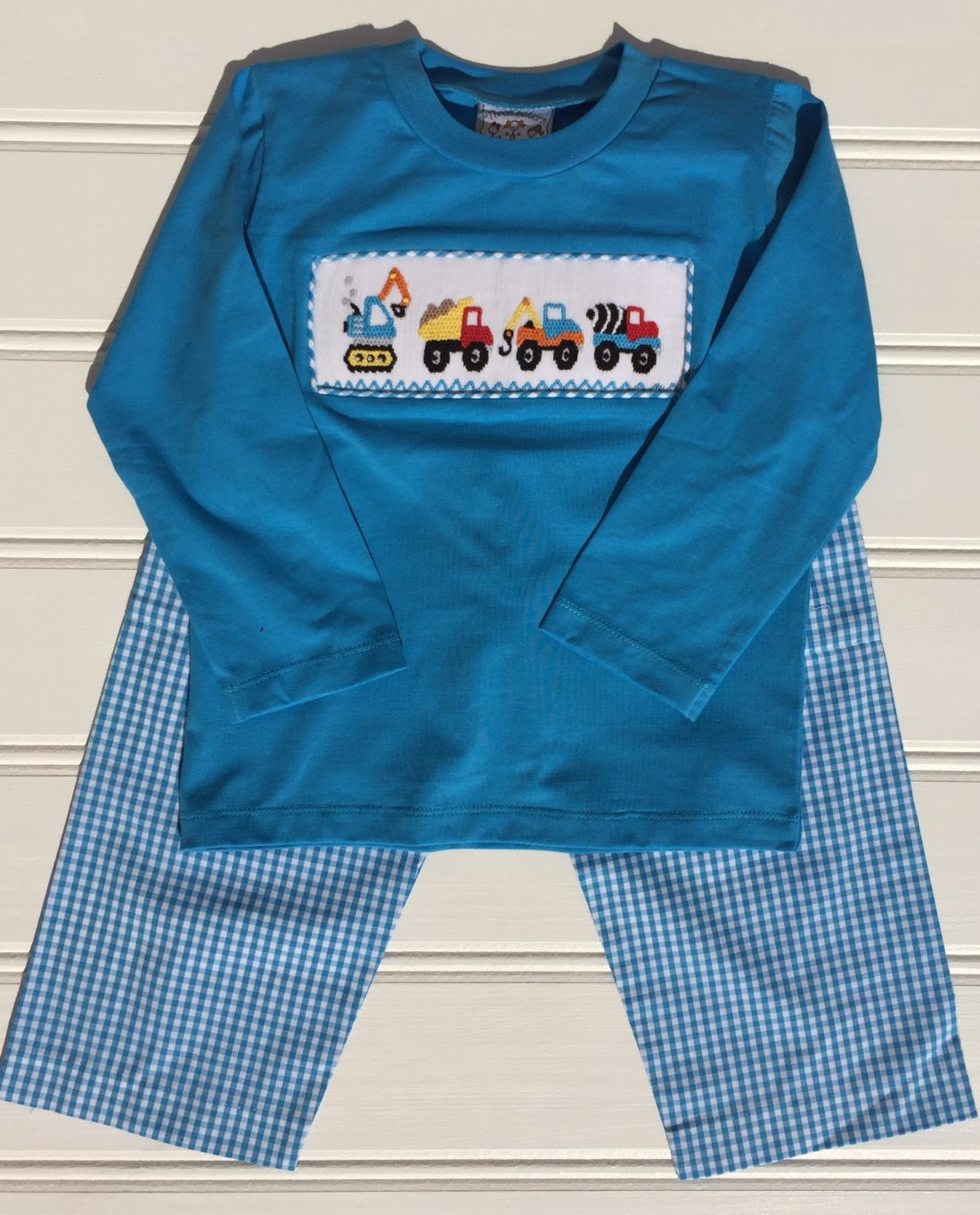 Construction Crew Smocked Pant Set Three Sisters