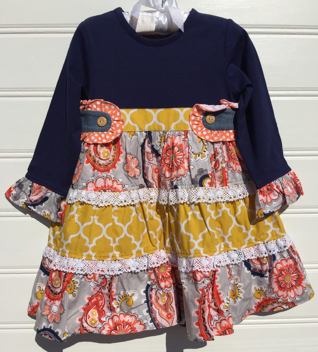 Banana Split Perfectly Paisley Panel Dress. The White Dogwood