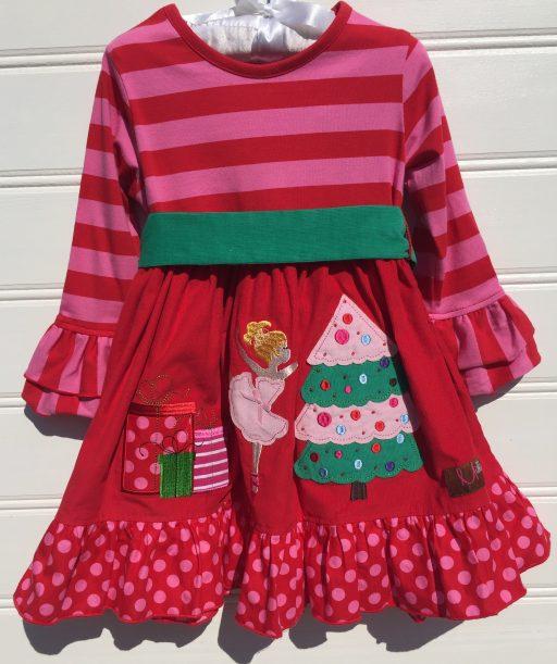 Millie Jay Nutcracker Applique Bell Sleeve Christmas Dress. The White Dogwood